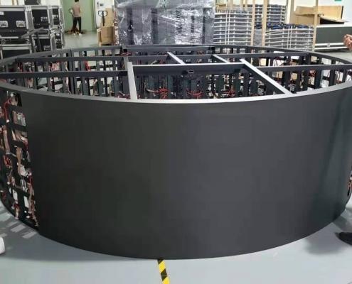 led弧形面积显示屏-led软模组